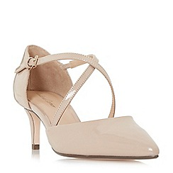 Roland Cartier - Natural patent 'Doffy' mid kitten heel court shoes