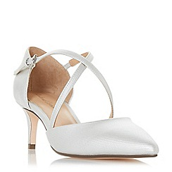 Roland Cartier - Silver 'Doffy' mid kitten heel court shoes