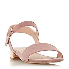 Head Over Heels by Dune - Pink 'Niccy' ankle strap sandals