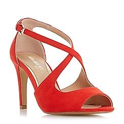 Head Over Heels by Dune - Red 'Carrmen' high stiletto heel peep toe sandals