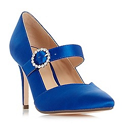 Roland Cartier - Blue satin 'Araminta' high stiletto heel court shoes