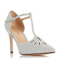 Roland Cartier - Silver 'Denira' high stiletto heel court shoes