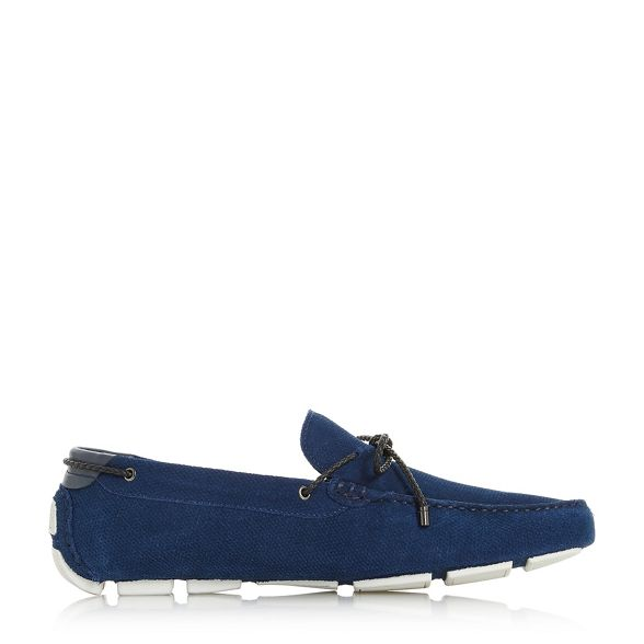 Dune loafers embossed driver lace 'Bluewater' Blue plait rqrZC