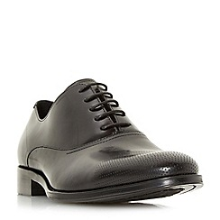 Dune - Black 'Pottery' punch hole top cap shoes