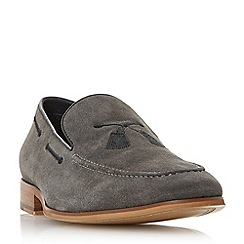 Dune - Grey 'Penry' embroidered slipper loafers