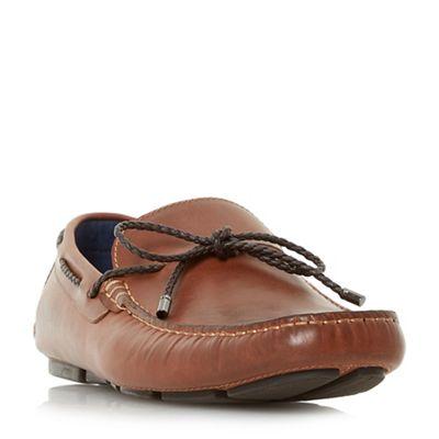 Dune - Tan 'Barnstable' plait lace driver loafers