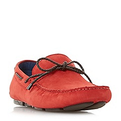 Dune - Tan 'Barnstable' plait lace driver loafers