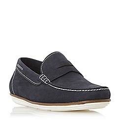 Dune - Navy 'Balloon' contrast sole loafers shoes