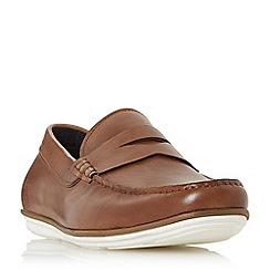 Dune - Tan 'Balloon' contrast sole loafers shoes