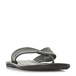 Dune - Black 'Idle' leather toe post sandals