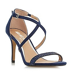 Head Over Heels by Dune - Navy 'Missy' ankle strap sandals