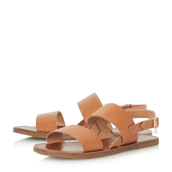 ankle sandals Dune leather 'Lowpez' Tan strap O07nzYpqwx