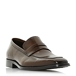 Dune - Brown 'Philipe' chisel toe saddle loafers