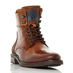 Dune - Tan 'Colchester' cuffed lace up worker boots