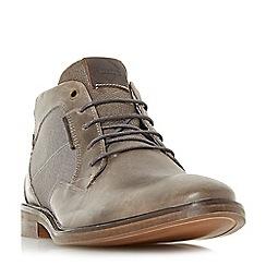 Dune - Grey 'Cosmo' contrast collar chukka boots