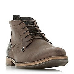 Dune - Brown 'Campari' contrast heel nubuck boots