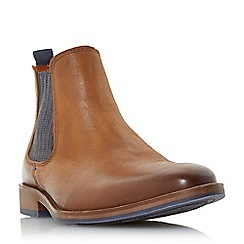 Dune - Tan 'Conor' leather chelsea boots
