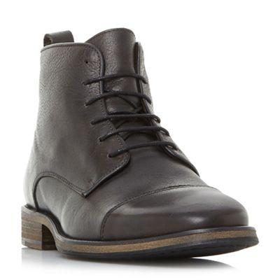 Bertie - Black 'Claxon' toecap lace up boots