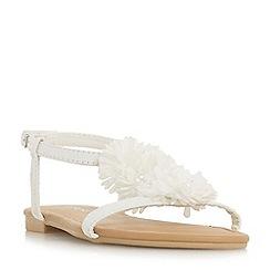 Head Over Heels by Dune - White 'Liillies' peep toe sandals
