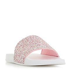Head Over Heels by Dune - White 'Leelo' mule slippers