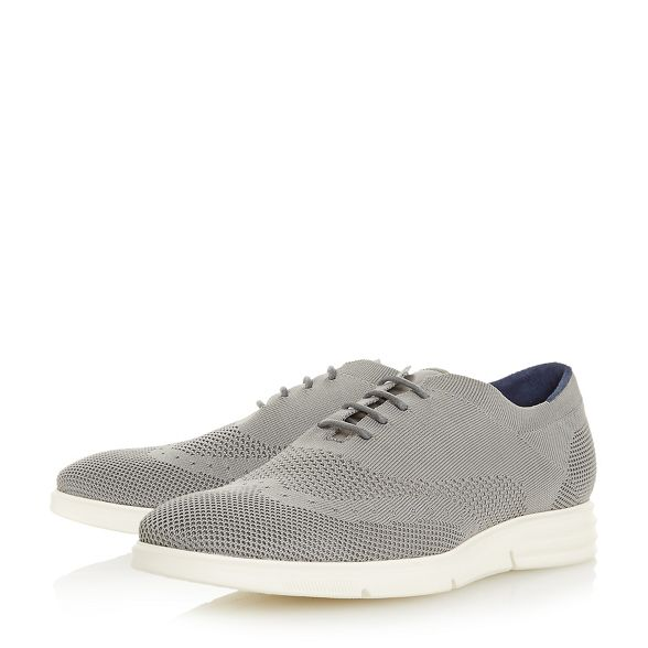 shoes 'Balotelli' knitted Grey wedge brogue Dune axgqw6PUa