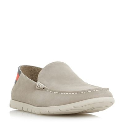 Dune - Grey 'Busquets' contrast sole loafers