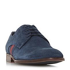 Dune - Navy 'Persie' grosgrain stripe Gibson shoes