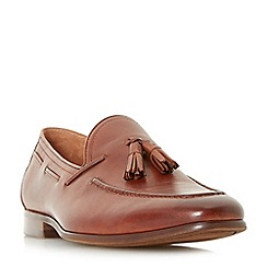 Dune - Tan 'Pastore' unlined tassle loafers shoes