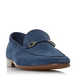 Dune - Navy 'Paulinho' unlined snaffle loafers