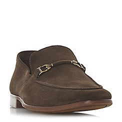 Dune - Brown 'Paulinho' unlined snaffle loafers