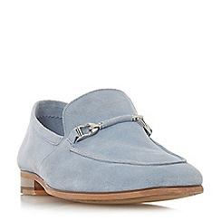 Dune - Light blue 'Paulinho' unlined snaffle loafers