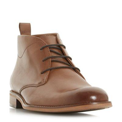 Dune - Tan 'Messi' smart chukka boots