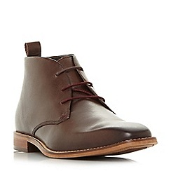 Dune - Brown 'Muller' square toe chukka boots