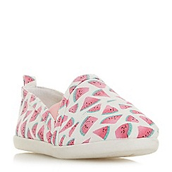 Head Over Heels by Dune - Multicoloured canvas 'Eliah' slip on trainers