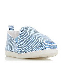Head Over Heels by Dune - Blue canvas 'Eliah' slip on trainers