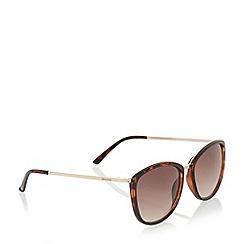 Dune - Black 'Georgia' acetate square frame sunglasses