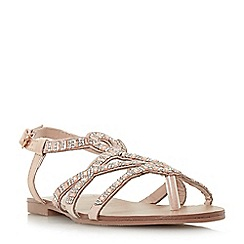Head Over Heels by Dune - Rose 'Nadias' ankle strap sandals