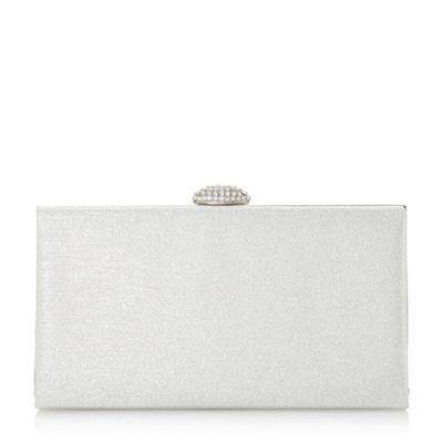 Roland Cartier   Silver Briana' Oval Diamante Clasp Clutch Bag by Roland Cartier