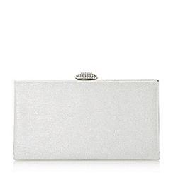 Roland Cartier - Silver briana' oval diamante clasp clutch bag