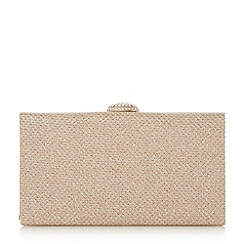 Roland Cartier - Gold briana' oval diamante clasp clutch bag