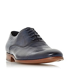 Dune - Navy 'Pickford' punched brogue shoes