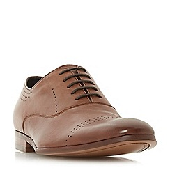 Dune - Tan 'Pickford' punched brogue shoes