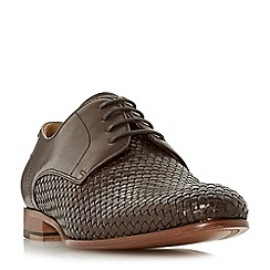 Dune - Brown 'Pueblo' woven lace up shoes
