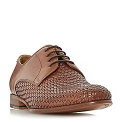 Dune - Tan 'Pueblo' woven lace up shoes