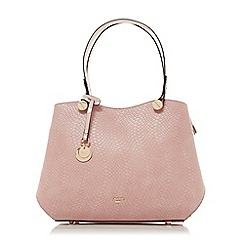 Dune - Light pink 'Dimogen' large double compartment shoulder bag