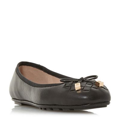 Dune   Black Leather 'harland' Ballet Pumps by Dune