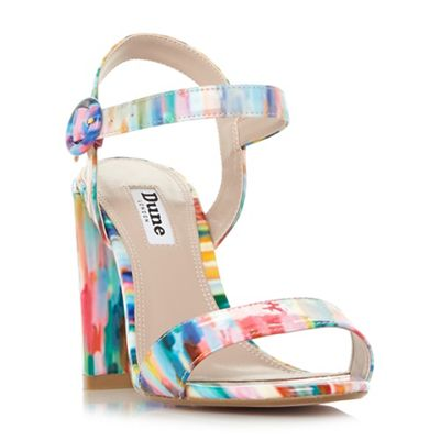 Dune - Multicoloured 'Mixed' high block heel ankle strap sandals