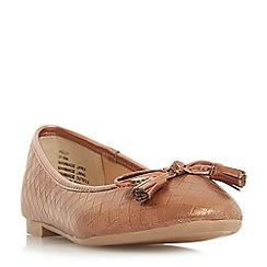 Head Over Heels by Dune - Tan 'Helly' ballet pumps