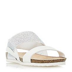 Head Over Heels by Dune - White 'Laurella' slingback sandals