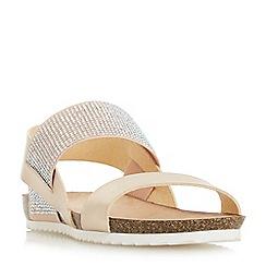 Head Over Heels by Dune - Rose 'Laurella' slingback sandals